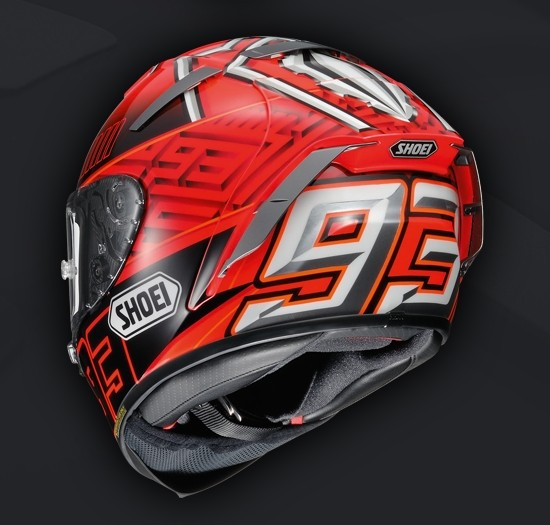 marc marquez memakai helm shoei sampai 2018 motorideweb. Black Bedroom Furniture Sets. Home Design Ideas