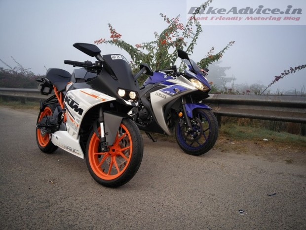 Yamaha-R3-with-KTM-RC-390